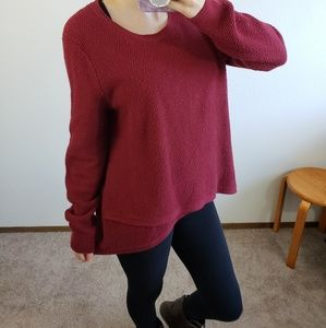 Madewell Feature red sweater